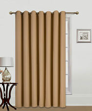 "1PC PATIO DOOR 14 GROMMETS WINDOW PANEL CURTAIN THERMAL BLACKOUT GOLD 100""W"