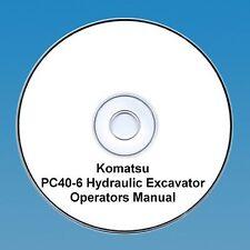 Komatsu Galeo PC40-6 Excavator Operators / Maintenance Manual