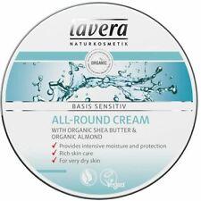 LAVERA ORGANIC Basis Sensitiv All Round Cream 150ml Shea Butter &Almond DRY SKIN