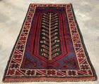 Authentic Hand Knotted Afghan Taimani Balouch Wool Area Rug 5 x 3 Ft (518 HMN)