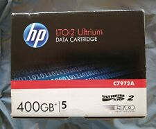 5 X HP Ultrium LTO 2 Data Cartridge 400gb C7972A