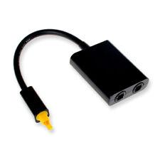 Cavo Adattatore Sdoppiatore Audio Digitale Ottico Toslink Splitter 1 a 2 - Nero