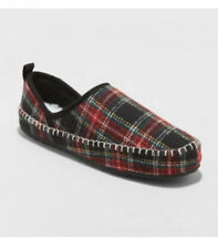 Womens Moccasin Slippers Rayna Stars Above Plaid Red Multicolor Size 9