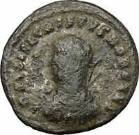 Crispus Son of Constantine the Great Ancient Roman Coin Military gate i50771