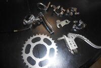9X Vintage Suntour Spirt & Raleigh bike parts
