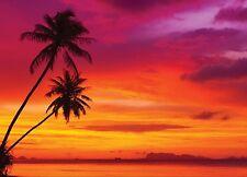 COLOURFUL SUNSET DESIGN CHIFFON SARONG SWIMWEAR BEACH COVER UP WRAP L&S PRINTS