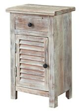 Casual Stylish Charlowe White Wash Door Night Stand/End Table Ashley Furniture