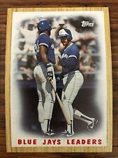 1987 Topps George Bell Willie Upshaw Toronto Blue Jays 106