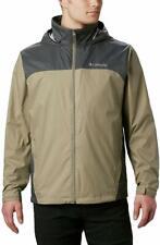 Columbia Glennaker Lake(TM) Rain Jacket, Waterproof Fabric, Tusk/Grill, Men
