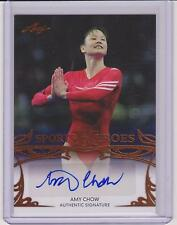 2013 LEAF SPORTS HEROES AMY CHOW OLYMPIC AUTOGRAPH CARD BA-AC1 ~ GYMNASTICS