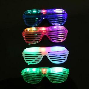 8 LED Shutter Shades Light Up Slot Glasses Shades Flashing Rave Wedding Party