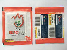 POCHETTE PANINI EURO 2008 AUTRICHE SUISSE HORIZONTALE PACKET TUTO TUTEN BUSTINA