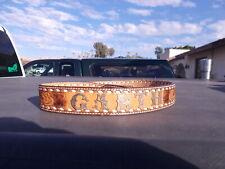 "Vintage Dun Dee Stamped Tooled Leather Western Belt Sz 32-34 38"" Cowboy Garth"
