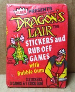 Vintage 1983 Fleer Dragon's Lair Wax Pack Sealed