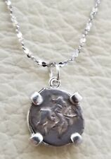 Genuine Ancient Russian Wire Coin of Tsar Ivan the Terrible 925 Silver Necklace