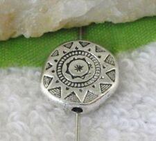 100Pcs Tibetan Silver Flat Round Spacer Beads 10X3.5mm 9528