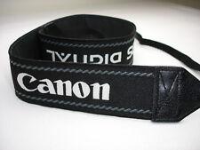 """CANON DIGITAL EOS CAMERA NECK STRAP , 1.5"""" Wide, All Black"""