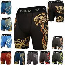 VELO Compression Shorts Boxing Training Base Layer Fitness Running Gym Exercise
