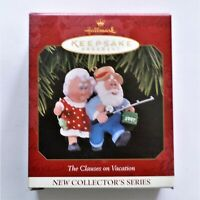 1997 Hallmark Keepsake Ornament The Clauses on Vacation Dated Ornament NIB NEW