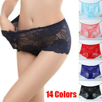 Women's Large Size Briefs Underwear Comfort Lace Lingerie Stretched Panties