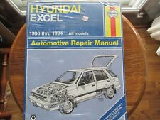 HAYNES SERVICE Repair Manual Hyundai Excel 1986 -1994 All Models WIRING DIAGRAMS
