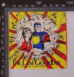 VINTAGE 1978 DC COMICS INC SUPERMAN SOUVENIR VINYL PROMOTIONAL STICKER