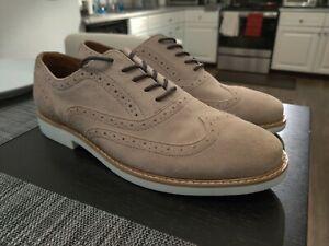 Aldo Men's Wingtip Casual/Dress Shoes Size 11 Tan Suede New