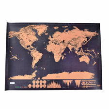 2019 5PCS Deluxe Scratch Off World Map Poster Journal Log Giant Map Of The World