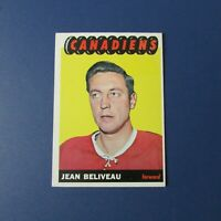 JEAN BELIVEAU  1965-66  TOPPS  # 6   MONTREAL CANADIENS  1966   65-66   EX-MT/NM