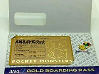 Mew ANA Limited Pokemon Gold Boarding Pass Promo Card Japanese Very Rare F/S