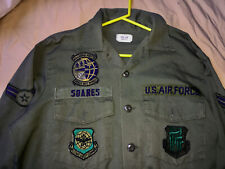US AIR FORCE VIETNAM PERIOD FATIGUE SHIRT WITH PATCHES AIRMAN 1ST CLASS