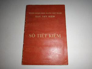 Obsolètes Économies Compte Livret De Un Vietnamien Femme Ans 1976-1983