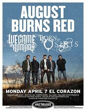 AUGUST BURNS RED /WE CAME AS ROMANS /BORN OF OSIRIS 2014 SEATTLE CONCERT POSTER