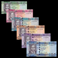 South Sudan, Set 6 PCS, 1 5 10 25 50 100 Pounds, 2011, Banknotes, UNC