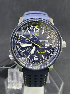 Citizen Eco-Drive Promaster nighthawk Blue Angels Men's Watch BJ7007-02L NEW #41