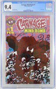 Carnage Mind Bomb #1 CGC 9.4 Foil Cover 1996