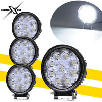 4x 27W 4inch Round LED Work Light Bar Flood Offroad Truck Driving Pods Fog Lamps