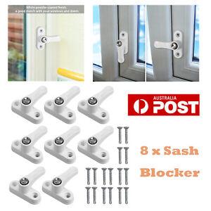 8X Door Window Safety Restrictor Lock Button Locks Security Sash Blocker Jammer