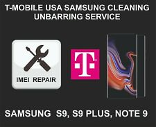 T-Mobile USA Cleaning, Unbarring Service for Samsung S9, S9 Plus, Note 9