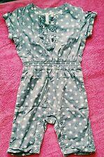 jasper conran debenhams girl outfit jumpsuit playsuit dungarees  3-6 months vgc