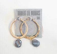 Robert Lee Morris Soho Gold Plated $38 Hoop Earrings