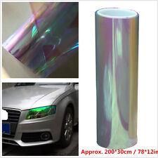 "200x30cm Colorful Car Taillight Fog Head Light Headlight Tint Film Wrap 78x12"""