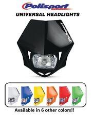 Polisport Black MMX Universal Headlight Dirtbike Motocross Bike Suzuki