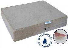 Go Pet Club Solid Memory Foam Orthopedic Dog Pet Bed w/Waterproof Cover (Khaki)