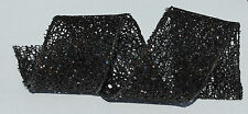 RIBBON BLACK W/SPARKLES & GLITTER, 1 Mtr, Gifts/Cards/Bows/Girls/Party/Birthday