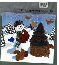 Longaberger Chilly the Snowman by The Cat's Meow Village new in bag