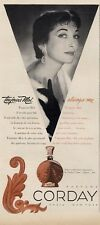 1950  Corday PRINT AD Features: Toujours Moi Perfume vintage bottle
