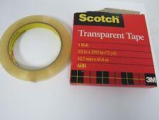 "SCOTCH TRANSPARENT TAPE 600 (1 ROLL) 1/2""x2592"" (72 YARDS) 06821-6"