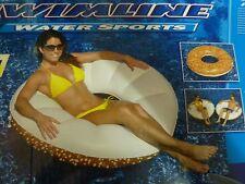 "Swimline 48"" Inflatable Everything Bagel Swimming Pool Float Tube New"