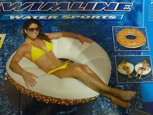 "Swimline 48"" Inflatable Everything Bagel Swimming Pool Float Tube New  P 92"